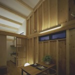 間接照明のダイニング&キッチン